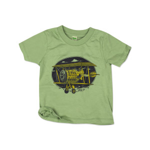 DMB Toddler Plane Tee on Avacado