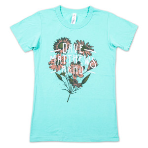 DMB Ladies Flower Logo on Mint