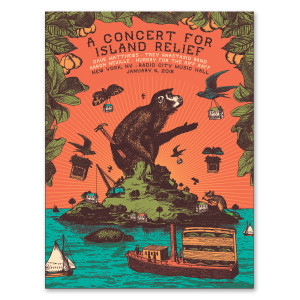Concert for Island Relief Poster