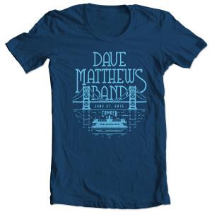 DMB Event T-shirt - Camden, NJ 6/27/2015