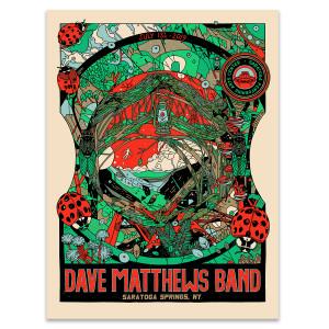 DMB Show Poster Saratoga Springs, NY 7/13/2019