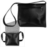 DMB Snap Design Shoulder Bag- Black