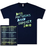 DMB 2010 Tour Date Shortsleeve T-Shirt