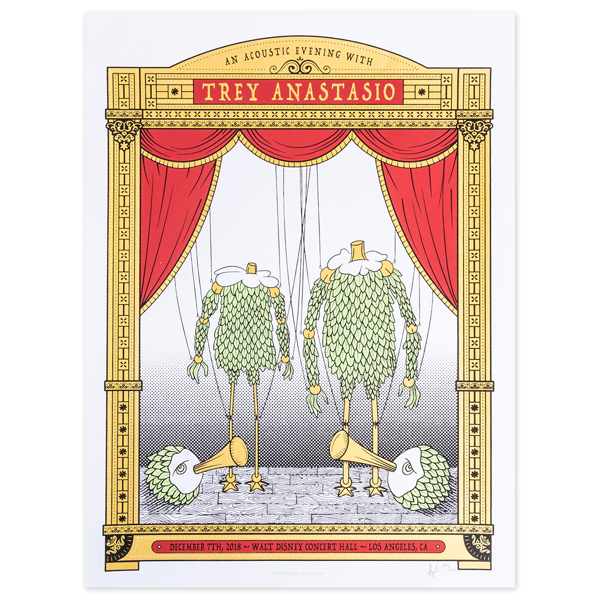 Trey Anastasio Walt Disney Concert Hall, Los Angeles LE Poster