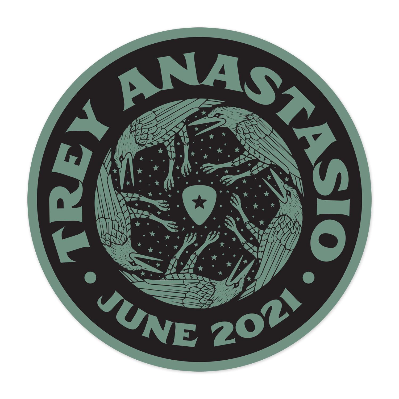 Trey Anastasio Five Birds June 2021 Tour Sticker