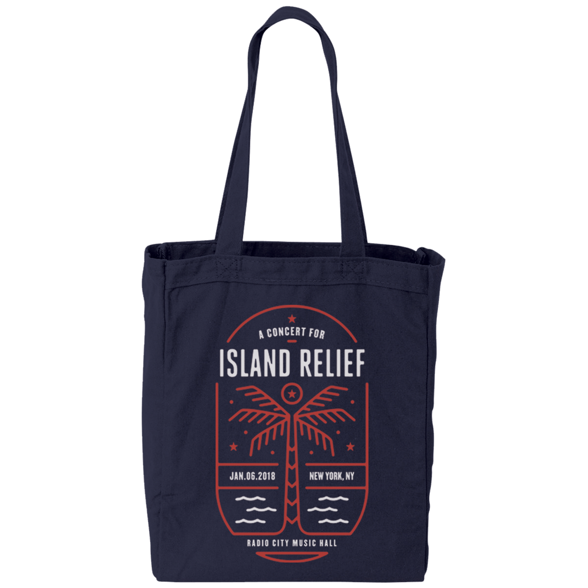 Concert for Island Relief Tote Bag