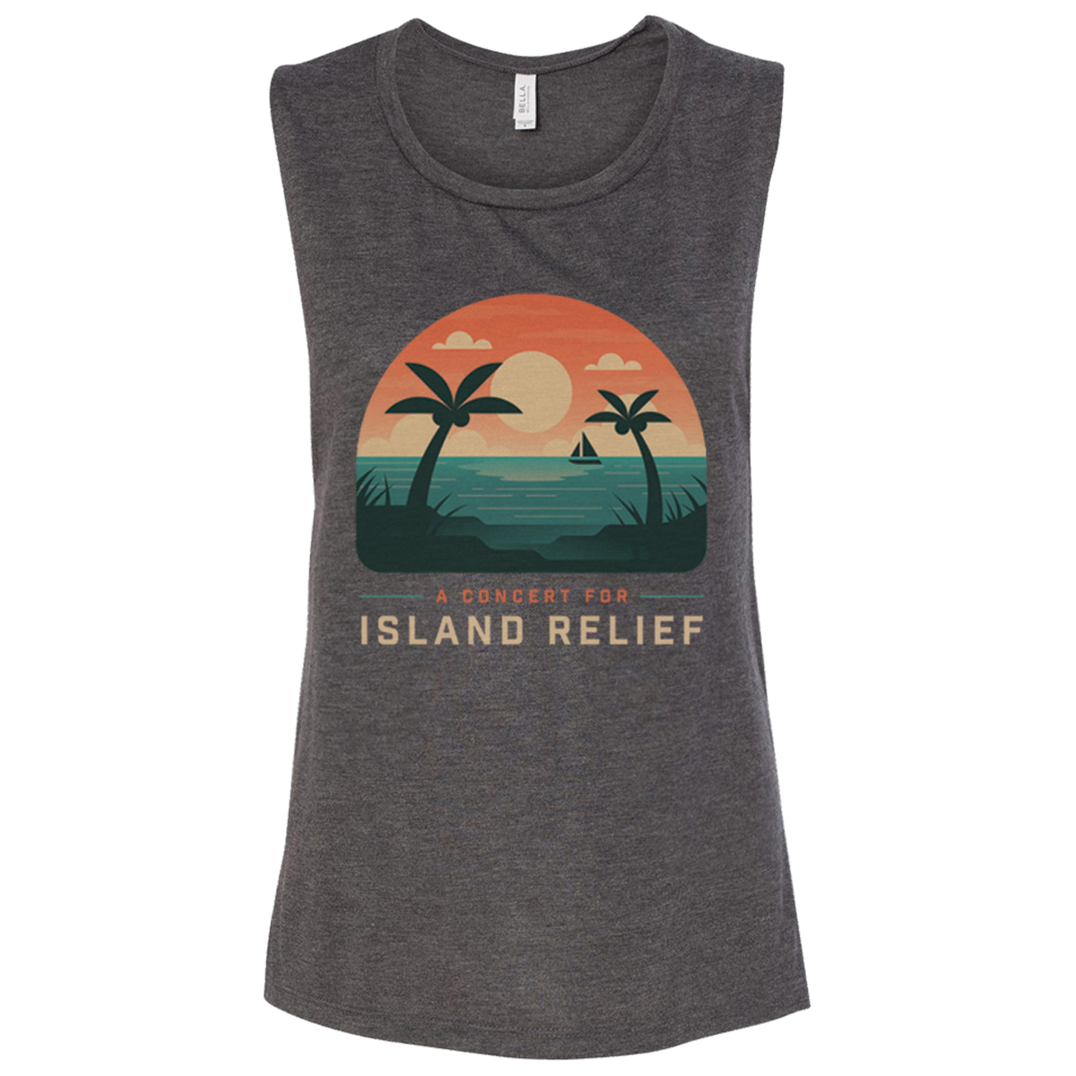 Concert for Island Relief Women's Ocean Scene Muscle Tank