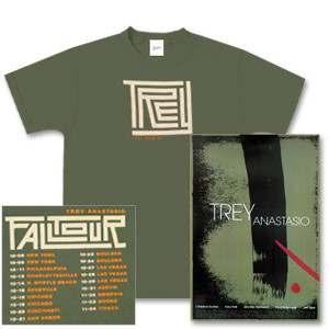 Trey Anastasio Maze Design T-Shirt & Fall Tour Poster Package