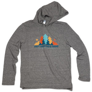 Trey Anastasio Band In The Pines Lightweight Hoodie on Tri-Blend Grey