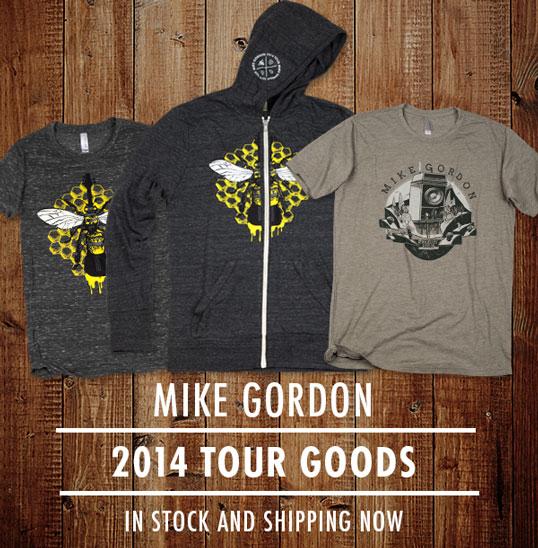 Mike Gordon 2014 Tour Merchandise