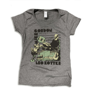 Mike Gordon & Leo Kottke Studio Women's Scoop Tee on Heather Grey