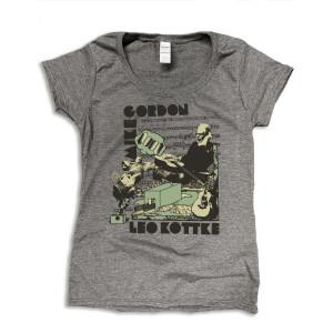 Mike Gordon & Leo Kottke Studio Women's Scoop Tee on Heather Grey