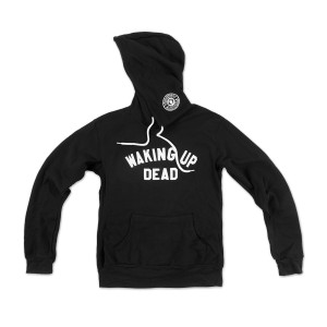 Waking Up Dead Pullover Hoodie on Black