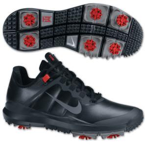 Tiger Woods 2013 Nike Golf Shoes: Black/Stealth-Varsity Red