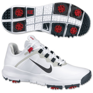 Tiger Woods 2013 Nike Golf Shoes: White/Anthracite- Varsity Red- JetStream