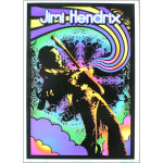 Guitar Solo Blacklight Poster