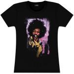 Hendrix Watercolor Portrait Ladies T-Shirt