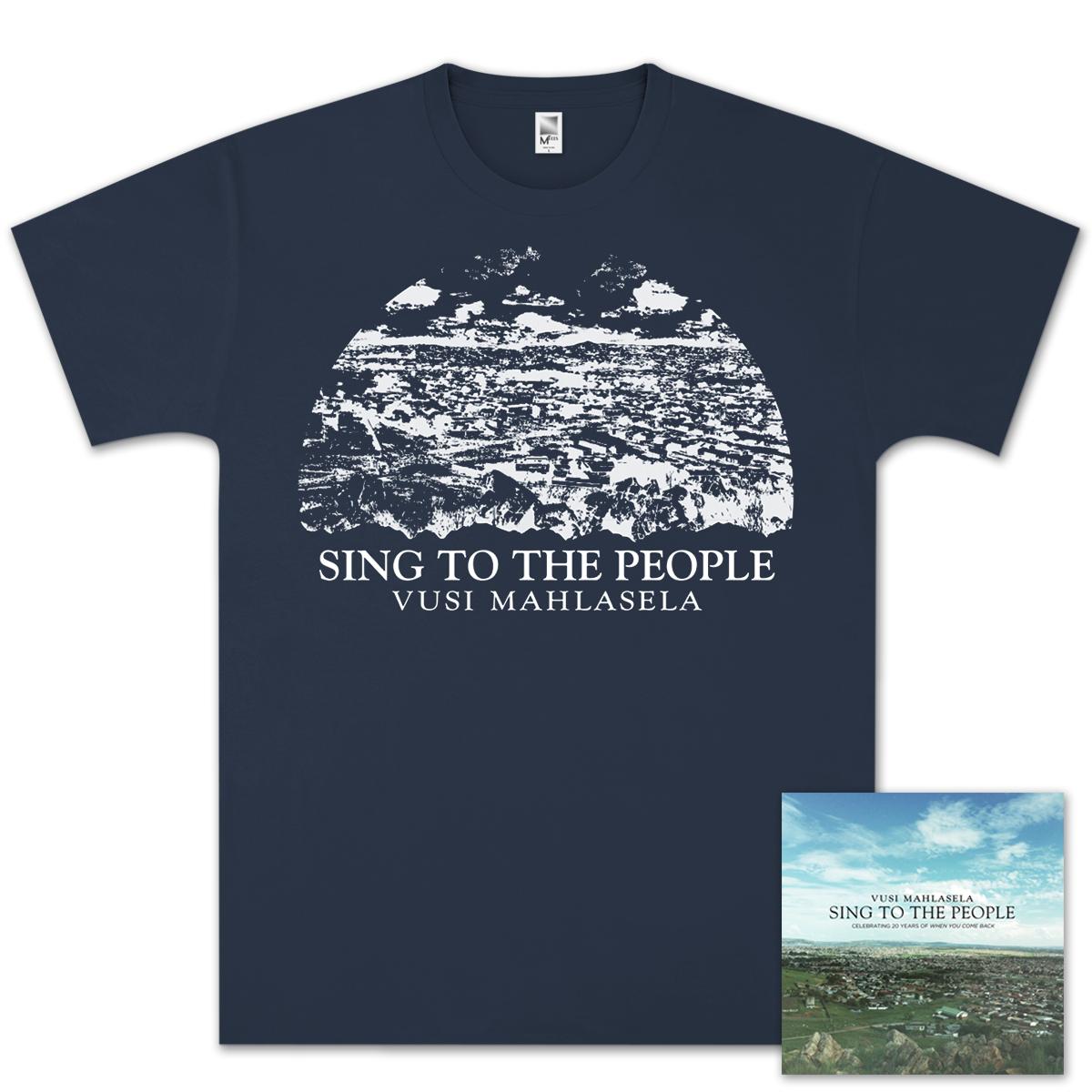 Vusi Mahlasela Sing To The People T-Shirt/CD Bundle