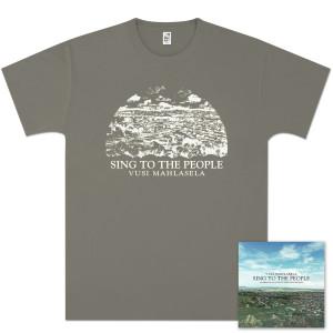 Vusi Mahlasela Sing To The People Women's T-Shirt/CD Bundle