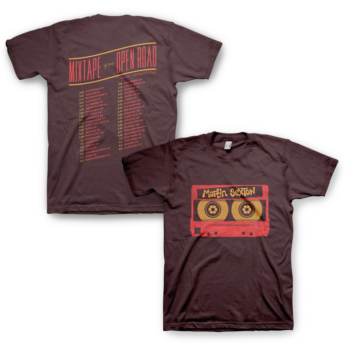 Mixtape of the Open Road 2015 Tour T-Shirt