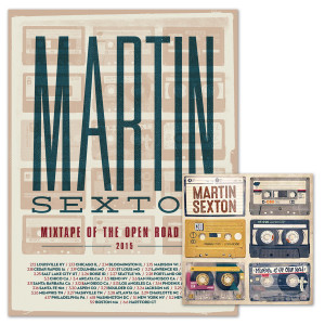 Martin Sexton Mixtape of the Open Road CD/Tour Poster Combo