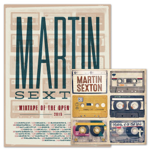 Martin Sexton Mixtape of the Open Road Download/Tour Poster Combo