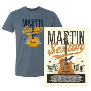 Martin Sexton - 2019-2020 Fall/Winter Tour Tee & Poster Bundle