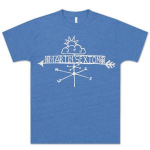 Martin Sexton Unisex Royal Falls Like Rain Vintage T-shirt.