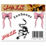 Pink Funhouse Tattoo Sheet