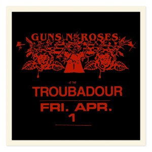 Troubadour Limited Edition Red foil litho (18x18)