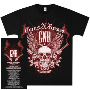 Guns N' Roses Destruction Skull T-Shirt