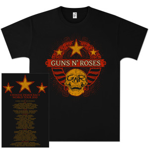 Guns N' Roses Wheat Skully Tour T-Shirt