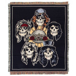 Guns N Roses Skull Head Blanket