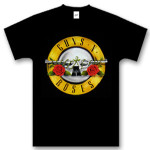 Guns N' Roses Bullet Tall Logo T-Shirt