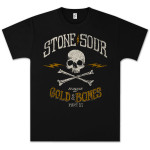 Stone Sour - House of Gold & Bones Part 2 Biker Skull T-Shirt