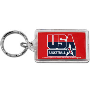 USA Basketball Rectangular Acrylic Keychain