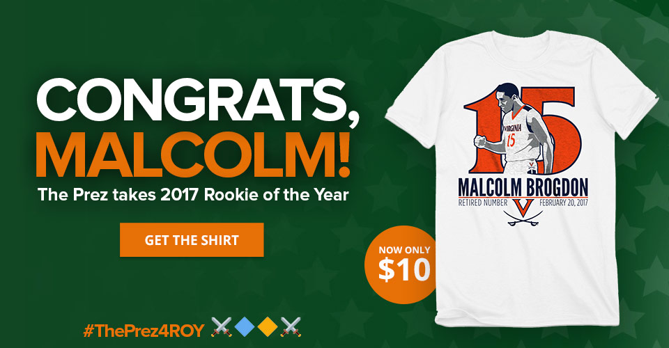 Brogdon Wins Rookie of the Year! Get the Shirt for $10!