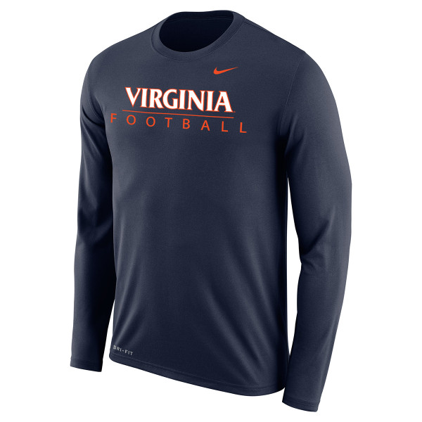c7e31e4bf5fa University of Virginia Football Dri-Fit LS T-shirt