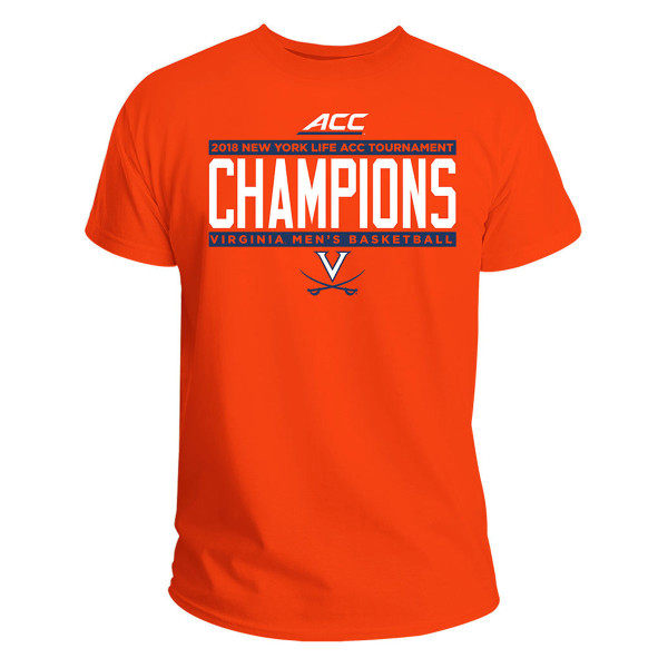 66c48b7e University of Virginia 2018 ACC Champions T-shirt - Orange | Shop the UVA  Athletics Official Store