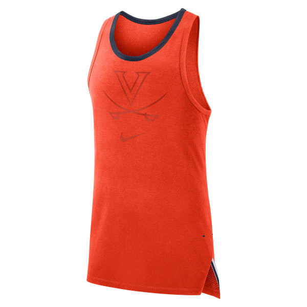 7cae10dced991 University of Virginia 2018 Basketball Nike Dri-Fit Orange Tank Top