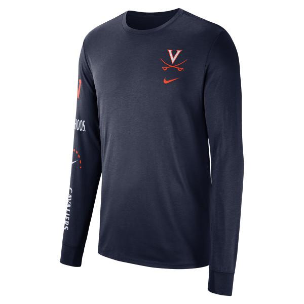 a0ecc7a3ae University of Virginia 2018 Nike Navy Basketball T-shirt