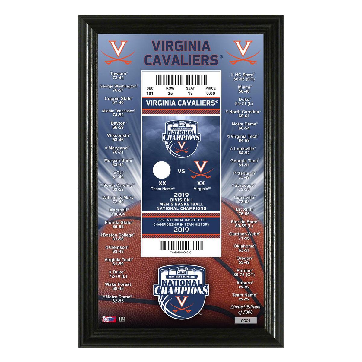 University of Virginia 2019 NCAA Men's Basketball National Champions Ticket Pano