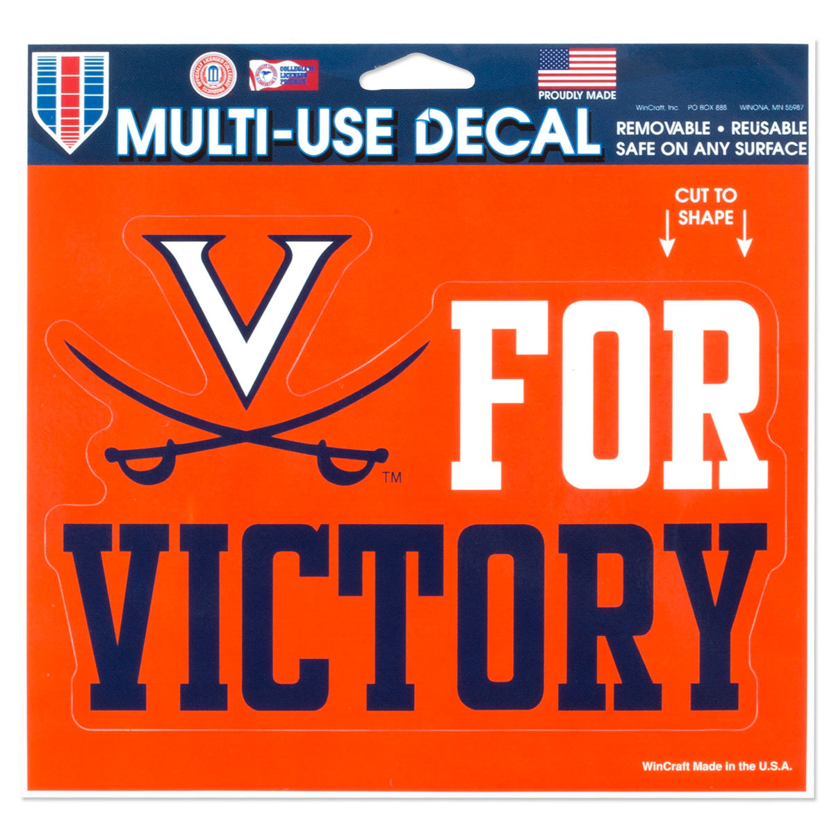 V for Victory 5x6 Multi-Use Decal