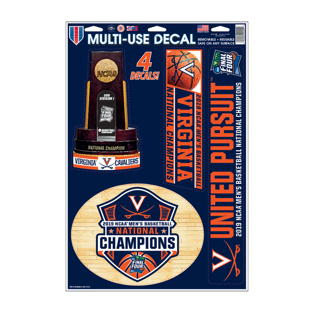 2019 National Champions Multi-Use Decal Sheet