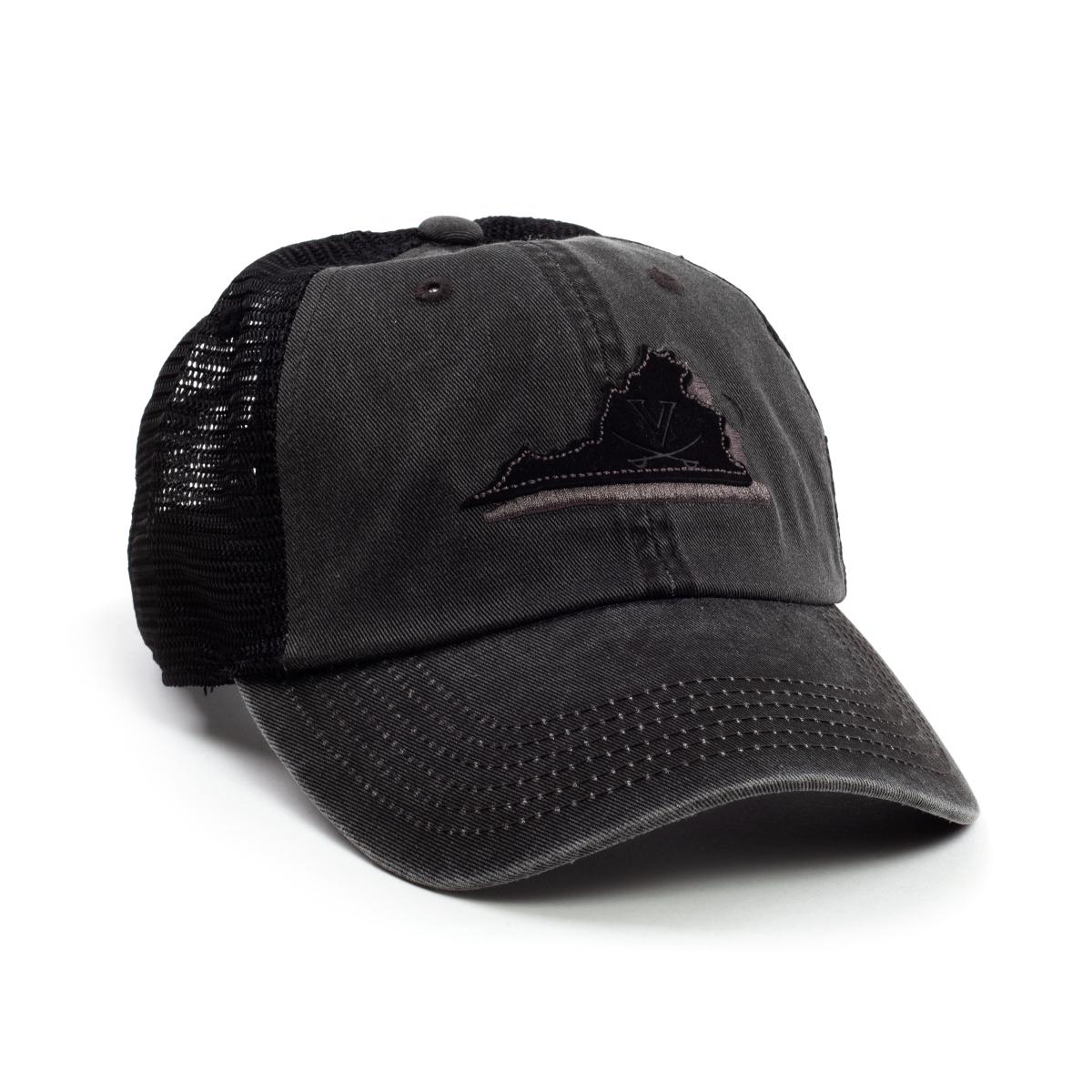 University of Virginia Black Adjustable Hat