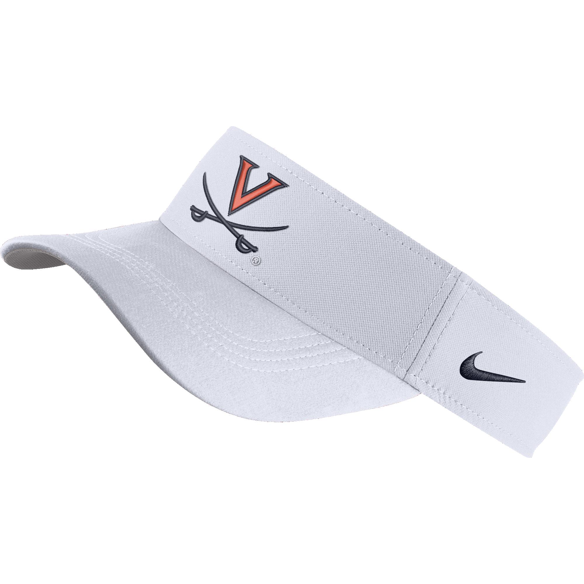 University of Virginia Nike White V-sabre Visor