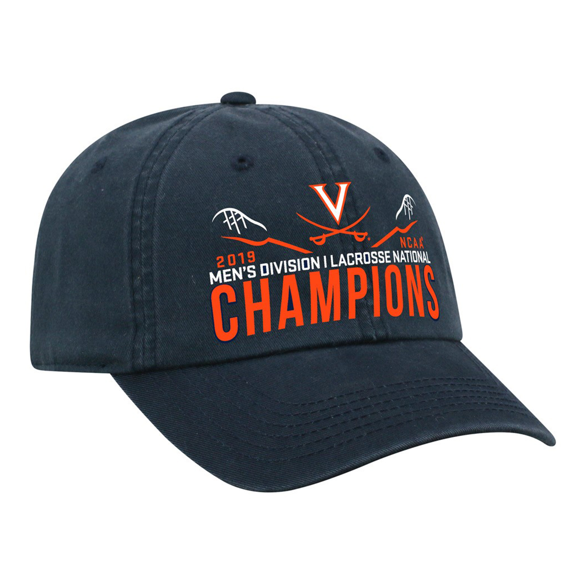 Virginia Lacrosse 2019 National Champs Classic Navy Crew Hat