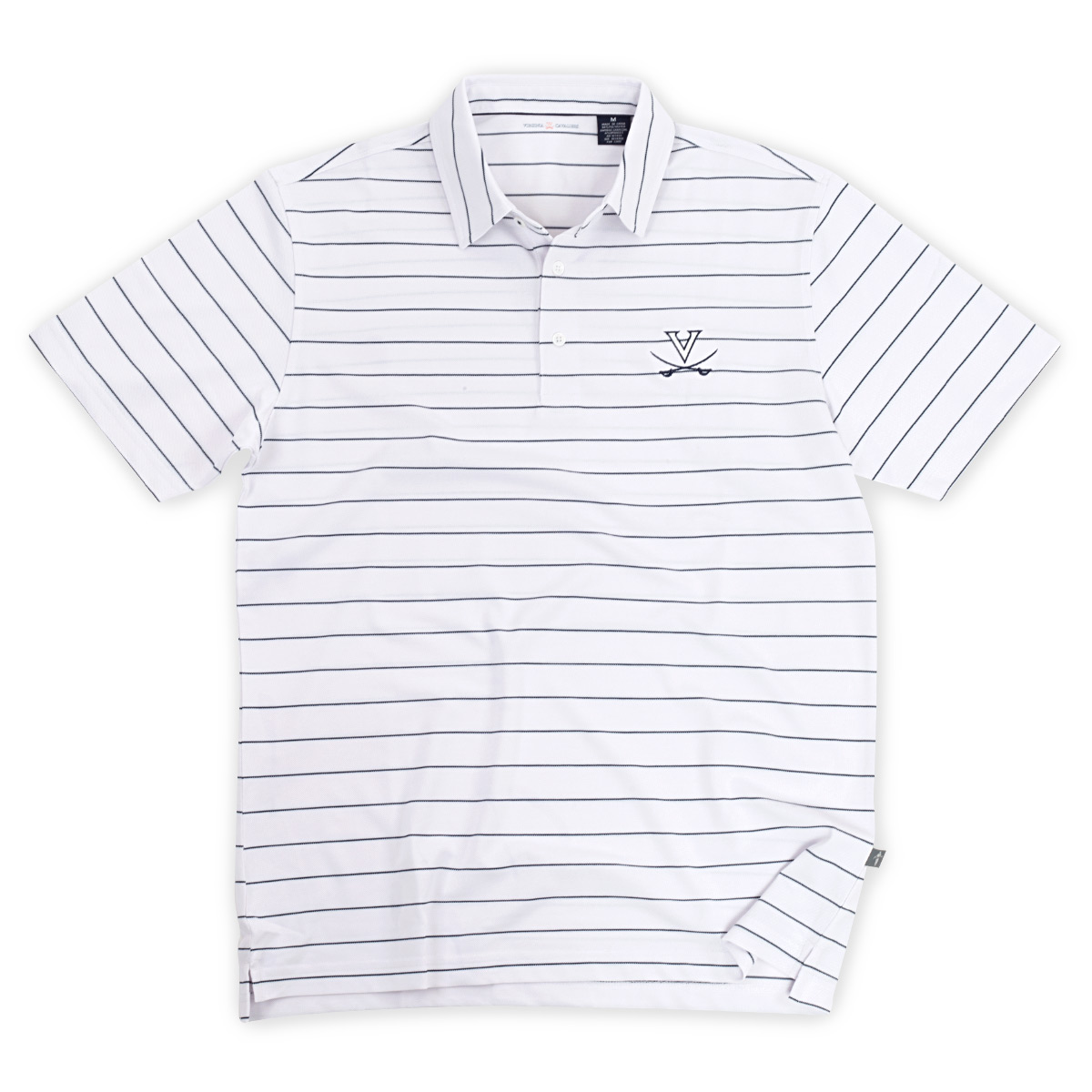 University of Virginia ECOTEC Pique Stripe Polo