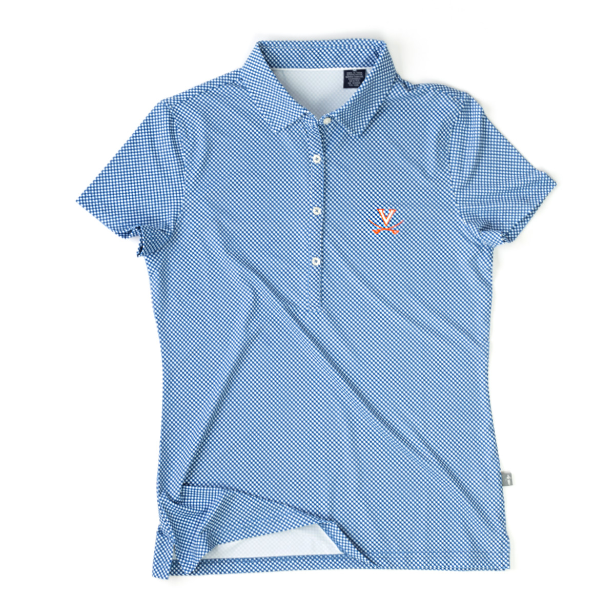 University of Virginia ECOTEC Gingham Ladies Polo