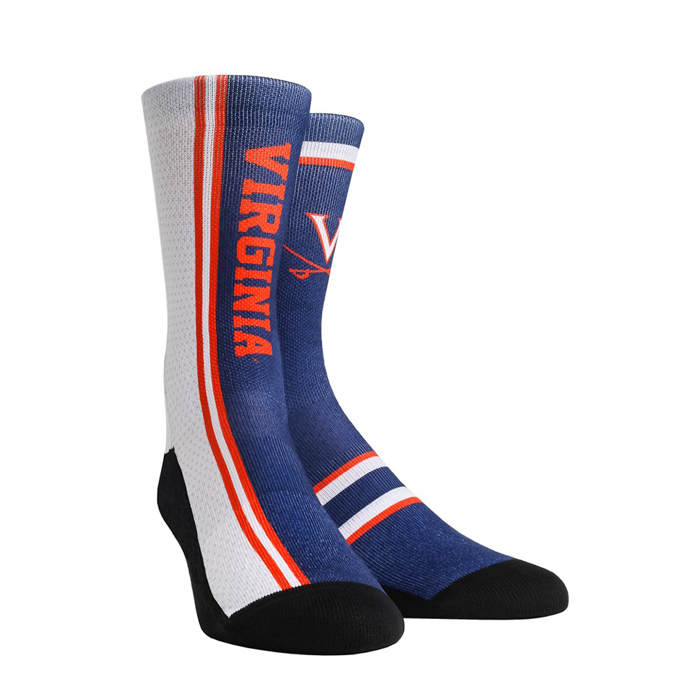 University of Virginia Cavaliers Jersey Series Blue Youth Socks